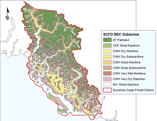 Map of Bioecoclimatic Zones of SCFD