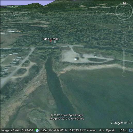 Aerial view of Lang Creek Watershed